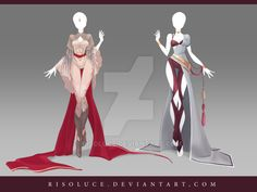 (OPEN) Adoptable Outfit Auction 138-139 by Risoluce.deviantart.com on @DeviantArt