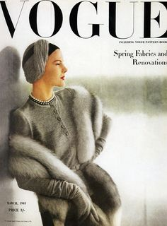 March 1945 Vogue Magazine Cover  Now this is how elegant should be!