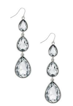 Cato Fashions Triple Stone Dangle Earrings #CatoFashions