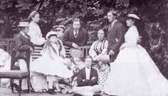 The nine children of Queen Victoria and Prince Albert: Victoria, Albert Edward, Alice, Alfred, Helena, Louise, Arthur, Leopold, and Beatrice.
