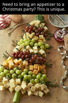Holiday cheese and fruit