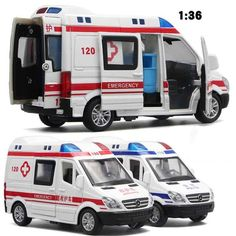 Hospital Rescue Ambulance Police Metal Cars Model Pull Back Sound and Light Alloy Diecast car toys for children Christmas Gifts For Boys, Gifts For Kids, Toys For Boys, Kids Toys, Birthday Presents For Dad, Nova, Ice Cream Van, Lightin The Box, Gifted Kids