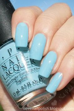 "kireinails: ""OPI What about the Cattitude? Opi Nails, Nail Manicure, Nail Polishes, Mani Pedi, Manicures, Cute Nails, Pretty Nails, Nail Desighns, Baby Blue Nails"