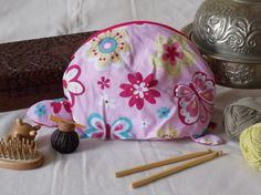 Turtle/tortoise cosmetic or tool bag organic by EcoTurtleUpcycling
