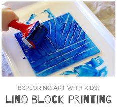 Lino Block Printing for Kids