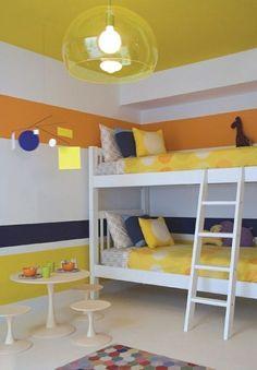 Kinderzimmer Wandgestaltung Farben