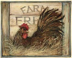 Discover thousands of images about Rooster Kitchen Art Print - Country Good Morning Chicken Wall Home Decor Picture Rooster Painting, Rooster Art, Rooster Decor, Tole Painting, Painting On Wood, Chicken Signs, Chicken Art, Arte Do Galo, Chicken Pictures