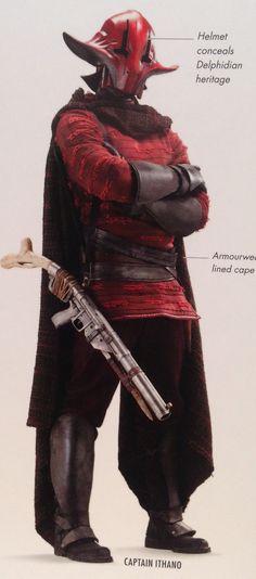 Captain Sidon Ithano, also known as The Crimson Corsair, was a pirate and a patron at Maz Kanata's castle.