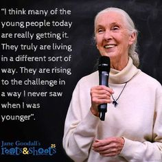 Official Instagram of the Jane Goodall Institute's global youth program, Jane Goodall's Roots & Shoots