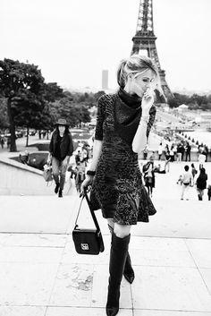 @Barbara Acosta Moreno Elegante París en blanco y negro