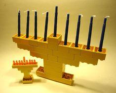 Lego Duplo Menorah Make your own Hanukkah Menorahs – DIY Jewish Kids and Adults Crafts Activities