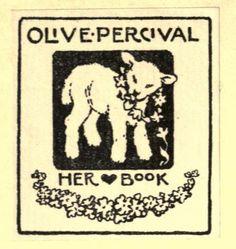 Bookplate of Olive Perciva