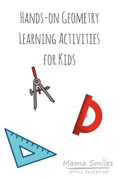 Hands-on geometry learning activities for kids. Hands-on geometry learning activities for kids. Math Activities For Kids, Fun Math, Steam Activities, Fun Learning, Teaching Kids, Toddler Learning, Learning Tools, Early Learning, Positive Parenting Solutions