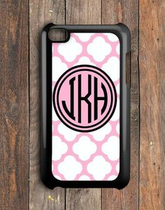 Pink Monogram iPod Touch 4 Case