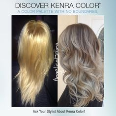 Here, stylist Angelica Molina used Kenra Color® 6NA as a base and 10V + 10SM on the ends.