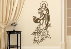 Virgin Mary Immaculate Conception Wall Decal - Christian Vinyl