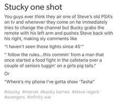 Stucky one shots Marvel Jokes, Avengers Memes, Marvel Funny, Marvel Avengers, Avengers Headcanon, Marvel Comics, Bucky And Steve, Stucky, Bucky Barnes