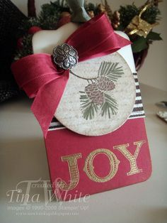 Stampin' Up! Australia - Tina White - Time to Ink Up - Independent Stampin' Up! Demonstrator: Christmas Tags Wall Hanging