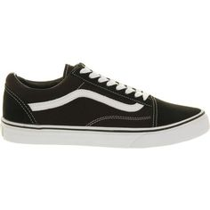 VANS Old skool trainers ($79) ❤ liked on Polyvore featuring men's fashion, men's shoes, men's sneakers and black