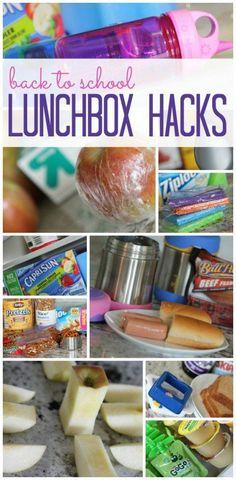 Back to school lunchbox hacks!