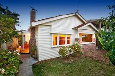 White on white Californian bungalow - 57 Clive Street WEST FOOTSCRAY