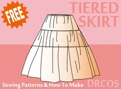 Tieredskirt sewing patterns & how to make
