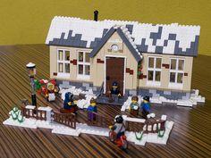 winter Village School by Nieks G., via Flickr