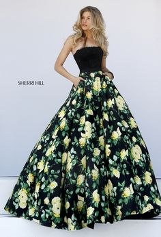 From Sherri Hill 2016 collection - match with emerald green jewelry from ElegantCostumeJewelry.com