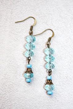 Glass beads dangle earrings made by Elena Powell from LC.Pandahall.com