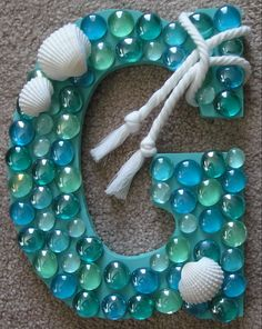 Coastal Letter | The Beach House @Melissa Squires Squires Squires Peacock we could use see glass insead :)