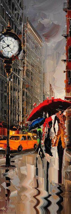 Cityscapes Paintings by Kal Gajoum