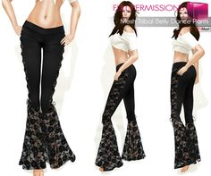 Second Life Marketplace - Free May Gift!!! Fitmesh and Rigged Mesh Tribal Belly Dance Pants