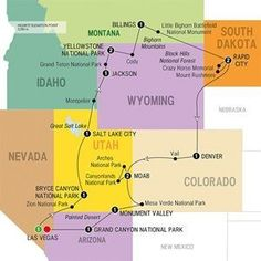 Take in the amazing scenic parks of America including Zion, Bryce, Grand Teton, Yellowstone, and Grand Canyon.