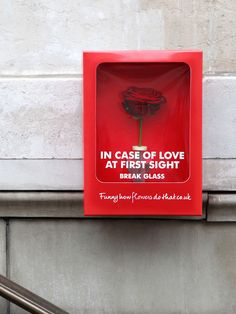 """IN CASE OF LOVE AT FIRST SIGHT BREAK GLASS"""