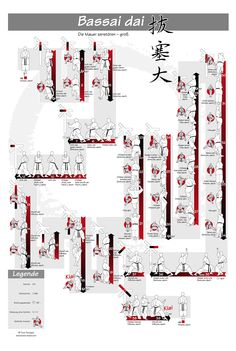 www.budo-books.com -bassai-dai- Shotokan Kata - 2 sizes of large posters to purchase