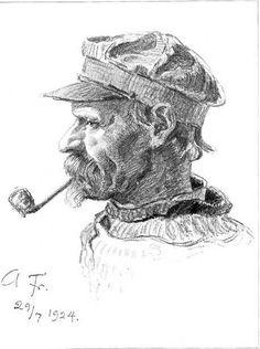 fisherman Johannes Larsen Hirsholmene