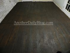 Diy subfloor makeover stained subfloor for the home pinterest another daily blog diy how to make plywood subfloor look like wide plank hardwood flooring solutioingenieria Image collections