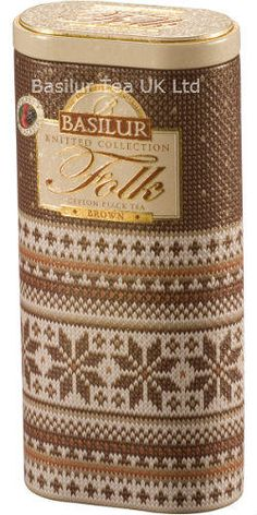 """BASILUR TEA KNITTED COLLECTION """"FOLK BROWN"""" LOOSE TEA IN METAL TIN CADDY 100G - Pure Ceylon Black Tea with flavours of strawberry, papaya, amaranth flowers and flavours raspberry and blackberry. Think of us for your Tea Time: http://www.basilurtea.net/! Basilur creates unique blends of tea with the most exotic ingredients such as a variety of flavours, natural fruits and herbs.  Drink Basilur Tea! Basilur is perfect for tea lovers. #Tea #TeaTime #DrinkTea #TeaLover"""