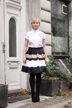 Tutorial how to make a striped skirt.  In sisterMAG N° 5 p. 255 #fashion #wardrobe #diy #tutorial. Photo: @Chasing Heartbeats