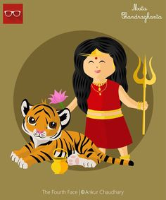 Illustration : Chandraghanta avatar of Goddess Durga