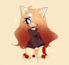 {Roses} by Amii-Art Cute Art Styles, Cartoon Art Styles, Cute Animal Drawings, Cute Drawings, Cute Anime Character, Character Art, Chibi Girl Drawings, Sonic Fan Art, Cute Anime Chibi