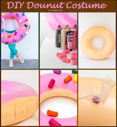 Easy DIY Dounut (costume) from an inner tube.