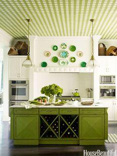 Techo en blanco y verde #techos  #ceilings