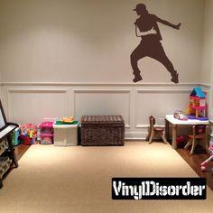 Hip Hop Dancer Wall Decal - Vinyl Decal - Car Decal - BA028
