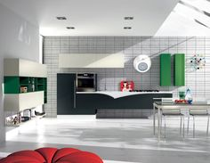 #Cucina FLY > #arredamento #verde #verdone