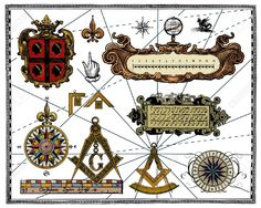 10637161-Antique-map-elements-Stock-Vector-map-compass-rose.jpg (1300×1039)