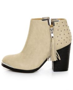 Studs and tassel ankle #booties