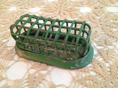 Vintage Green Metal Flower Frog Oblong   Great by stylishjunque, $8.00