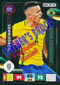 BRA05. Marquinhos (Brazil) - Defensive Rock Panini Road to 2018 FIFA World Cup Russia Adrenalyn XL