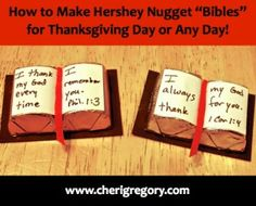 """How to Make Hershey Nugget """"Bibles"""" for Thanksgiving Day or Any Day!"""
